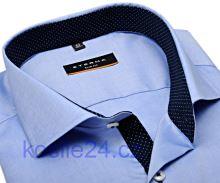 Eterna Slim Fit Fine Oxford – Světle modrá košile s tmavě modrým vnitřním límcem, manžetou a légou