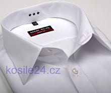 Marvelis Body Fit – bílá košile s italským límečkem a rozdělovacím stehem