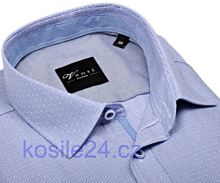 Venti Slim Fit – košile s modrým proužkem a vnitřním límcem, manžetou a légou - prodloužený rukáv