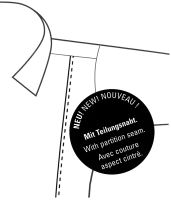 Marvelis Body Fit – černá košile s italským límečkem a rozdělovacím stehem