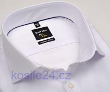 Olymp Super Slim Diamant Twill – luxusní bílá košile s diagonální strukturou