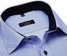 Eterna Comfort Fit Twill – košile s modrým proužkem s vnitřním límcem a manžetou