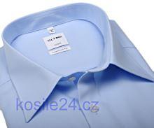 Olymp Luxor Comfort Fit Uni Popeline - světle modrá - prodloužený rukáv