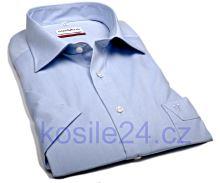 Marvelis Comfort Fit Chambray – světle modrá košile - krátký rukáv