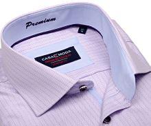 Casa Moda Comfort Fit Premium – luxusní košile s růžovým proužkem a vnitřním límcem - extra prodloužený rukáv