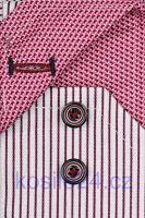 Venti Body Stretch – košile s vínově černým proužkem a vnitřním límcem, manžetou a légou