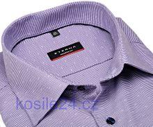 Eterna Modern Fit – fialová košile s vetkaným vzorem - prodloužený rukáv