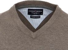 Bavlněný svetr Casa Moda – šedo-hnědý
