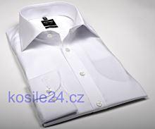 Olymp Level Five – bílá košile – prodloužený rukáv