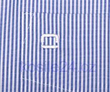 Olymp Luxor Comfort Fit - úzky indigově modrý proužek