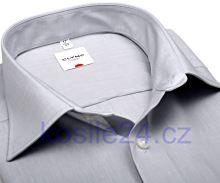 Olymp Luxor Comfort Fit Chambray - světle šedá - krátký rukáv