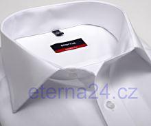 Eterna Modern Fit Uni Popeline - bílá košile s dvojitou manžetou