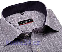 Eterna Modern Fit – károvaná košile s vnitřním límcem a manžetou - extra prodloužený rukáv