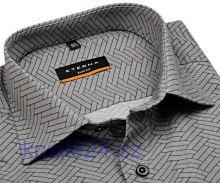 Eterna Slim Fit – designová košile s černo-šedým vzorem