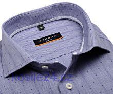 Eterna Slim Fit Stretch – modrá košile s vetkaným vzorem
