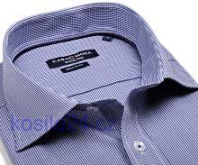 Casa Moda Comfort Fit – tmavě modré minikáro - prodloužený rukáv
