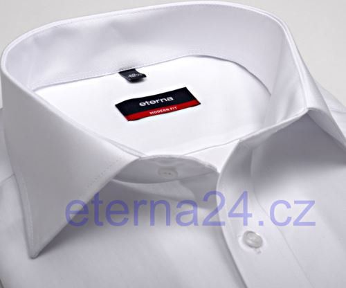 Eterna Modern Fit - bílá košile - krátký rukáv